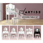 Luxury Dressing Table & Stool Mirrors Jewellery Cabinet Drawers Organizer