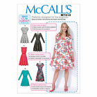 McCall's 7313 Paper Sewing Pattern to MAKE Dresses - Suitable for Beginner 8-24