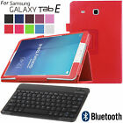 Folio PU Leather Case Cover + Bluetooth Keyboard for Samsung Galaxy Tab E T560