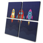 pictures for cartoons - Space Cartoon Modern For Kids Room MULTI CANVAS WALL ART Picture Print