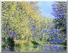 A Bend in the Epte River, near Giverny Claude Monet Stretched Art Repro Print