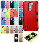 For LG K7 / Tribute 5 IMPACT TUFF HYBRID Protector Case Skin Phone Cover