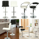2 x FAUX LEATHER BAR STOOL BREAKFAST SWIVEL BAR STOOLS PU BARSTOOLS KITCHEN