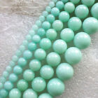 Wholesale 4/6/8/10/12mm Blue Jade round loose beads 15.5inch YSZ31