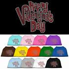 Happy Valentines Day Rhinestone Dog Shirt Pet Clothes Apparel Funny Tee BLING