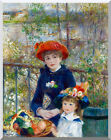 Pierre Auguste Renoir Two Sisters on the Terrace Stretched Fine Art Print Repro