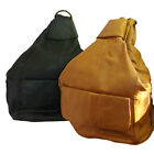 Backpack Hobo Purse Leather Available in Brown or Black Adjustable Straps