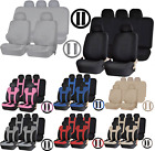 toyota avalon bench seat - Universal Double Stitched Polyester Seat Split Bench Steering Wheel Cover Set