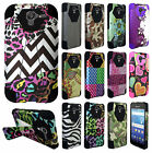 For Kyocera Hydro View Turbo Layer HYBRID KICKSTAND Rubber Case Phone Cover