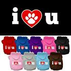 I Love U Screen Print Valentines Day Dog Hoodie Pet Puppy Designer Funny Clothes