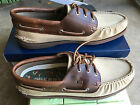NIB Sperry Top Sider A/O 3-Eye Duck Cloth Padded Canvas Boat Shoes Size 8-12M