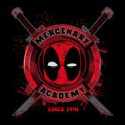 DEADPOOL *CUSTOM RARE OldSkool MERCENARY ACADEMY* Mens T-Shirt *MANY OPTIONS* image