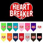 Heart Breaker Screen Print Dog Bandana Valentines Day Dog Collar Present