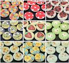 50pcs Multicolor Shape Lovely Round Wood Buttons Craft Sewing