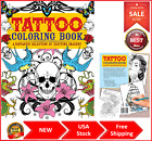 New Adult Coloring Book Stress Relief Beautiful Colouring Books - TATTOO DESIGNS