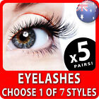 5 x False Eyelashes Extension Long Thick Natural Fake Lashes Extension with Glue