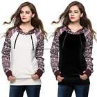 Fashion  Womens Hoodie Print Coat Sweatshirt Outerwear Tracksuit Top Coat