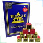 Triangle Snooker Pool Billiards Cue Tip Chalk Red 12 - 144 Cubes