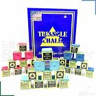 Triangle Snooker Pool Billiards Cue Tip Chalk Green, Blue or Red - 1 - 24 Cubes