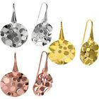 925 Sterling Silver Round Pop-Up Bubble Hanging Earrings (Choose Color)