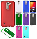 For LG K7 / Tribute 5 Rubberized HARD Protector Case Phone Cover + Screen Guard