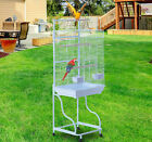 56″ Bird Cage Large Parrot Finch Play Top House Parakeet Perch Pet Supply Wheel