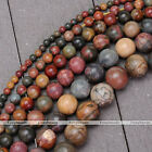 "1 Strand 15.5"" Natural Picasso Jasper Stone Round Loose Beads 4-14mm Jewelry DIY"