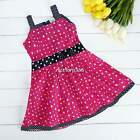 Kids Girls Princess Sleeveless Dress Bowknot Heart Skirt Party Dress 2-9Y N4U8