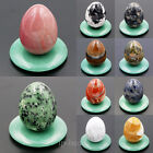 30x40mm Natural Gemstone Egg Crystal Healing Decor Statue Sphere  Free Stand Lot