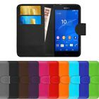 Leather Flip Cover For Sony Xperia Z3 Compact Wallet Phone Case & FREE Protector