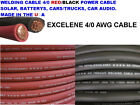 Welding Cable Red Black 4/0 AWG EXCELENE COPPER WIRE BATTERY CAR SOLAR LEADS