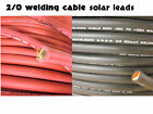 2/0 AWG WELDING CABLE RED BLACK GAUGE COPPER WIRE BATTERY SOLAR LEADS MADE N USA