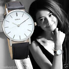 Fashion Lady Womens Watch Retro Design Date Leather Analog Quartz Wrist Watches