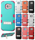 For Samsung Galaxy S7 EDGE Rubber IMPACT TUFF Hybrid KICKSTAND Case Phone Cover