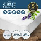 Fully Fitted Waterproof Mattress Protector Cover-Single/Double/Queen/King
