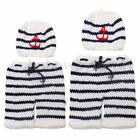 Newborn Baby Girls Boys Crochet Knit Costume Photo Photography Prop Outfits AC