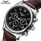 Luxury Quartz Watches Waterproof Stainless Steel Leather Band Wrist Watches Men