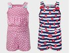 Girls Toddlers Playsuits 2 Designs Cotton Shorts Kids Holiday Casual Wear 18m-6y
