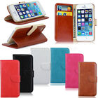 Leather Flip Money Wallet Stand Magnetic Hard Case Cover For iPhone 4/4S 5/5S 5C