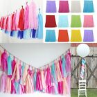 DIY 5Pcs Tissue Paper Tassels Bunting Wedding Garland Lantern pompom Party Decor