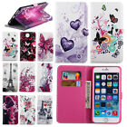 Flower Patterned Flip Leather Wallet Soft Case Cover For iPhone 6 6s Plus 6+ 6s+
