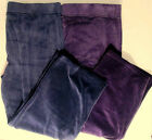 Talbots Woman Purple & Navy Blue Elastic Waist Velour Sweatpants 3XP & 3X NWT