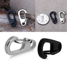 2/4/10pcs Useful Stainless Steel Split Keychain Key Ring Clasps Clips Snap Hook