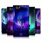 HEAD CASE DESIGNS NORTHERN LIGHTS HARD BACK CASE FOR SONY PHONES 4