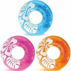 Schwimmring Clear Color Blume pink blau orange 91cm Badeartikel Ring Badering