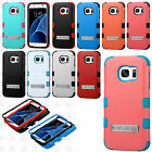 For Samsung Galaxy S7 IMPACT TUFF Hybrid KICKSTAND Case Phone Covers Accessory