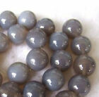 6mm-16mm Natural Grey Agate Round Beads 15''