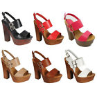 Beston CE18 Women's Platform Chunky Heel Peep Toe Sling Back Dress Sandals