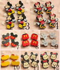 Disney Mickey Minnie Mouse Funny Wooden Pinback Pins Badges Brooches Kids Gift