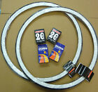 Pair 26 x 1 3/8 White wall Raleigh Record Tyres & add Innertubes 37-590 Bicycle